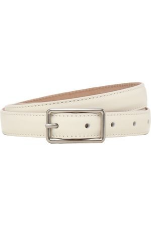 Alexander McQueen Geometric Ecolux Leather Belt