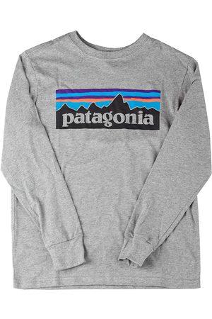 Patagonia Graphic Organic Long Sleeve T-Shirt p/6 logo gravel heather