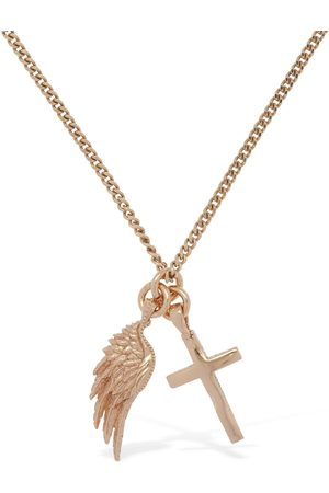 EMANUELE BICOCCHI Wing & Cross Long Necklace