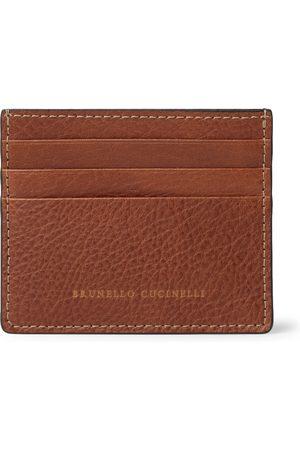 Brunello Cucinelli Man Plånböcker - Full-Grain Leather Cardholder