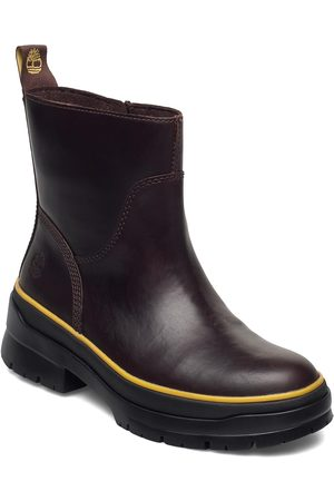 Timberland Malynn Wmlinesdzipwpmdbrn Shoes Boots Ankle Boots Ankle Boot - Flat