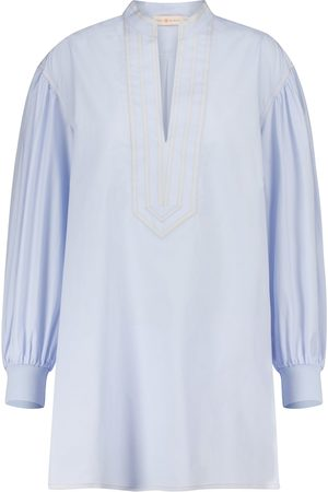 Tory Burch Kvinna Långärmade - Cotton tunic blouse