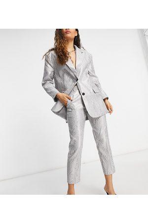 ASOS ASOS DESIGN Petite – Metalliska kostymbyxor i moiré