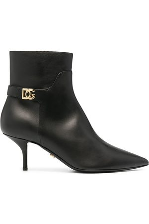 Dolce & Gabbana Logo plaque mid-heel ankle boots