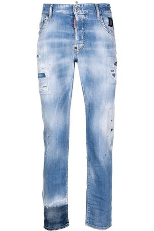 Dsquared2 Man Straight - Straight-jeans med slitning