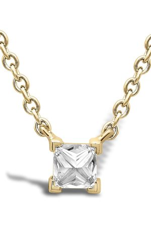 Pragnell 18kt yellow gold RockChicdDiamond solitaire pendant necklace