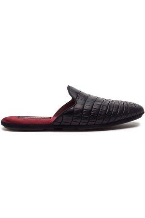 Dolce & Gabbana Croc-effect slippers