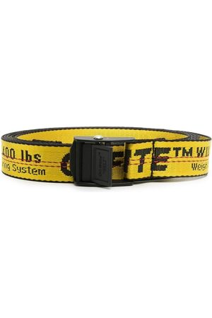 OFF-WHITE MINI INDUSTRIAL BELT YELLOW BLACK