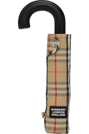 Burberry Trafalgar Check Print Nylon Umbrella
