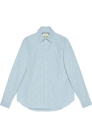 Gucci Man Skjortor - GG stripe fil coupé cotton shirt