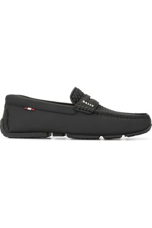 Bally Vävda slip on-loafers