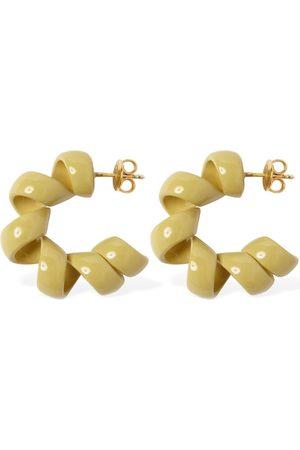 Bottega Veneta Wrinkled Hoop Earrings