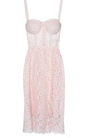 Dolce & Gabbana Bustier lace midi dress