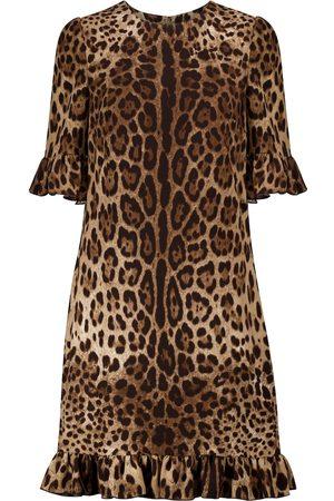 Dolce & Gabbana Leopard-print cady minidress