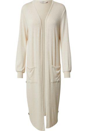 Cream Kvinna Stickade tröjor - Stickad kappa 'Sally