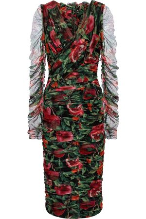 Dolce & Gabbana Exclusive to Mytheresa – Pomegranate-printed cotton-blend midi dress