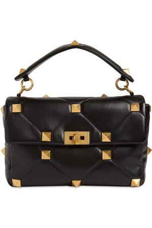 VALENTINO GARAVANI Large Roman Stud Leather Shoulder Bag