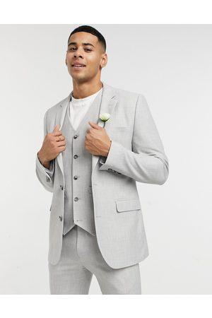 ASOS Man Kavajer - – Bröllop – Isgrå kavaj med supersmal passform och mikrostruktur, del av kostym