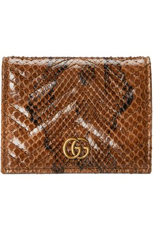 Gucci GG Marmont python card case wallet