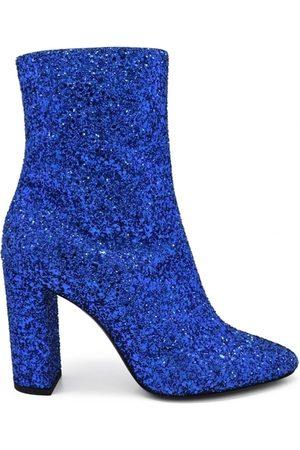 Saint Laurent Kvinna Ankelboots - Lou glittered ankle boots