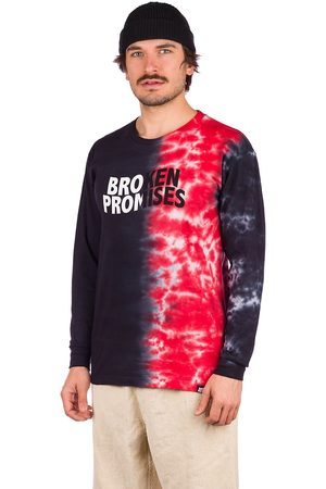 Broken Promises Logo Split Longsleeve T-Shirt red/black