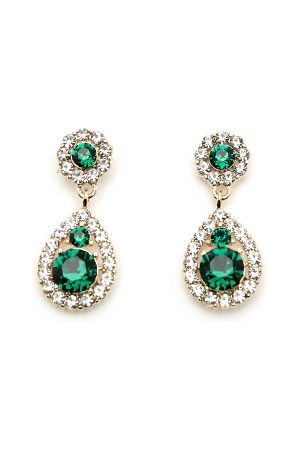 LILY AND ROSE Kvinna Örhängen - Petite Sofia Earrings Emerald One size
