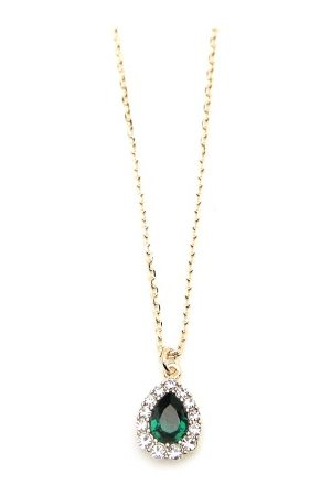 LILY AND ROSE Amelie Necklace Emerald One size