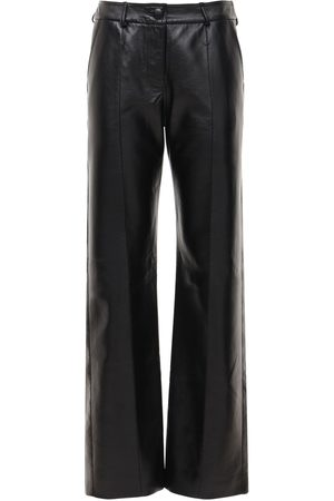 MATÉRIEL by Aleksandre Akhalkatsishvili Faux Leather Straight Pants