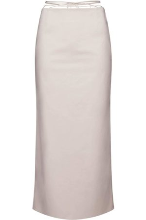 MAGDA BUTRYM Stretch Cotton Midi Skirt