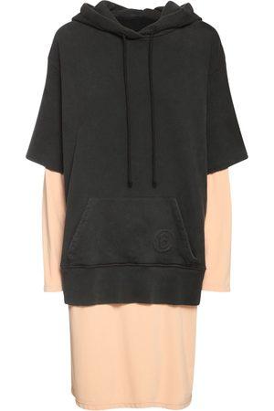 MM6 MAISON MARGIELA Cotton Jersey & Fleece Midi Hoodie Dress
