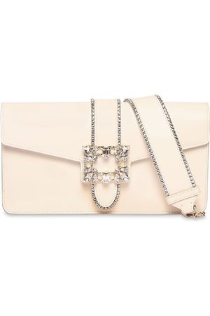 Roger Vivier Miss Vivier Leather Clutch