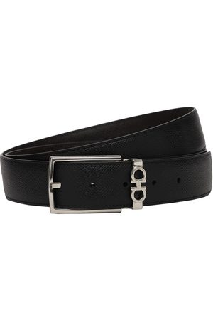 Salvatore Ferragamo 3.5cm Reversible Leather Belt