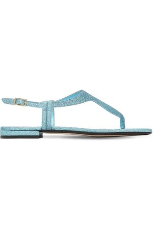 Alevì Kvinna Sandaler - 10mm Linda Glittered Thong Sandals