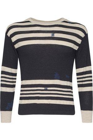 Maison Margiela Striped Crewneck Knit Sweater