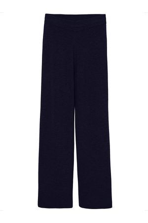 The Frankie Shop Rib Knit Lounge Wool Blend Pants