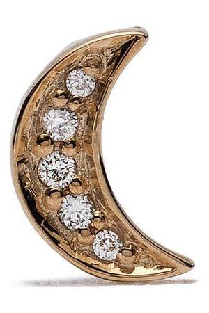 Feidt Paris Bo Lune stiftörhänge i 18K gult med diamant