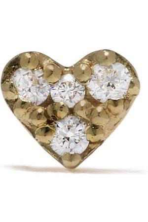Feidt Paris Bo Mini Coeur stiftörhänge i 18K gult med diamant