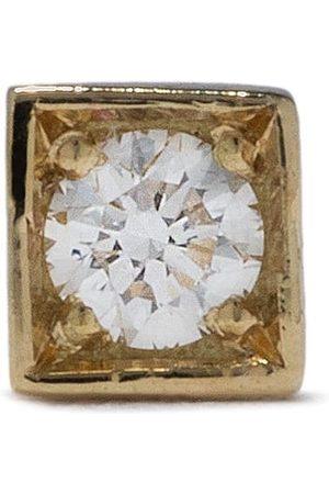 Feidt Paris Kvinna Örhängen - Modele fyrkantigt stiftörhänge i 18K gult med stor diamant