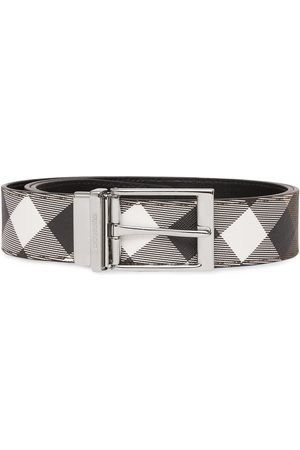 Burberry Check-print leather belt