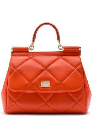 Dolce & Gabbana Quiltad totebag med logotyp