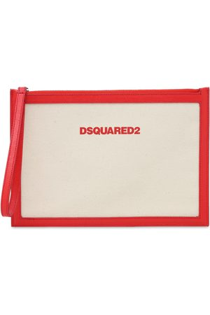 Dsquared2 Canvas & Leather Pouch