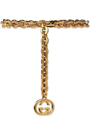 Gucci Chain belt with Interlocking G charm