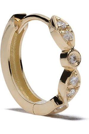 Feidt Paris Charnière små öronringar i 18K gult med diamant