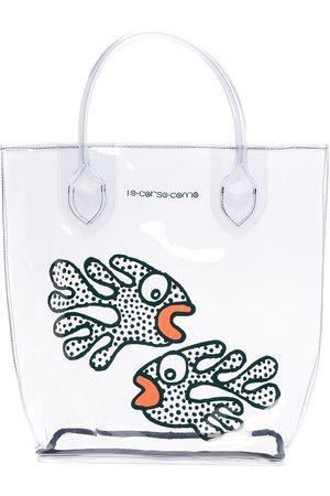 10 CORSO COMO Fish-print transparent tote