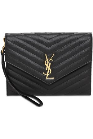 Saint Laurent New Monogram Leather Pouch