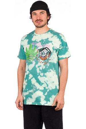 Killer Acid Wake And Bake T-Shirt green tie dye