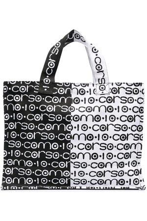 10 CORSO COMO Tvåfärgad tygväska med logotyp