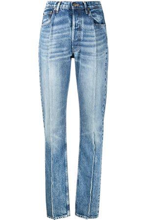 Maison Margiela Jeans med hög midja och sömdetalj