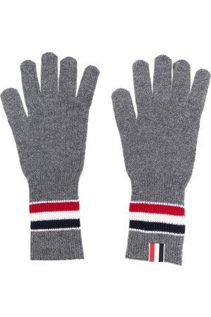 Thom Browne Man Handskar - Randiga ribbade handskar