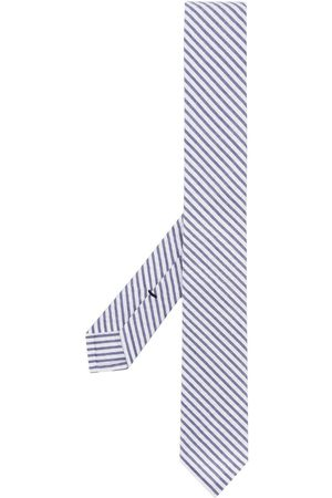 Thom Browne Classic Necktie In Navy Seersucker